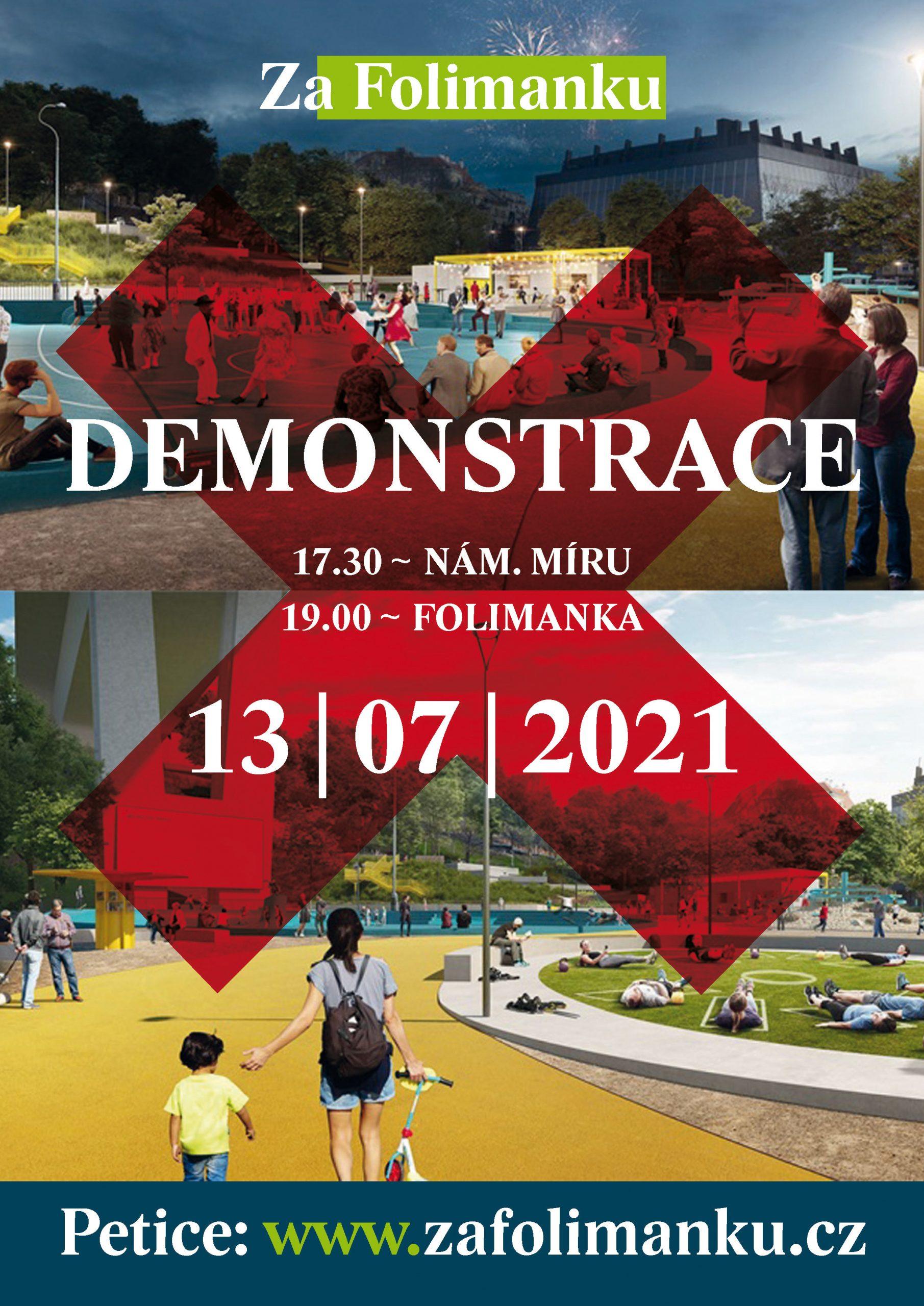 Demonstrace za Folimanku bude 13. 7. 2021 na Folimance