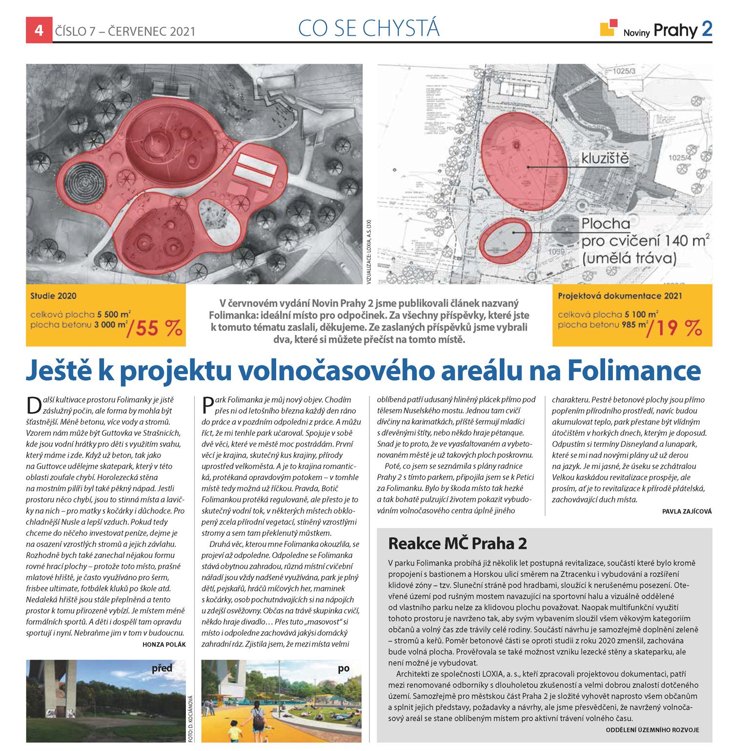 Názory občanů na volnočasový areál na Folimance