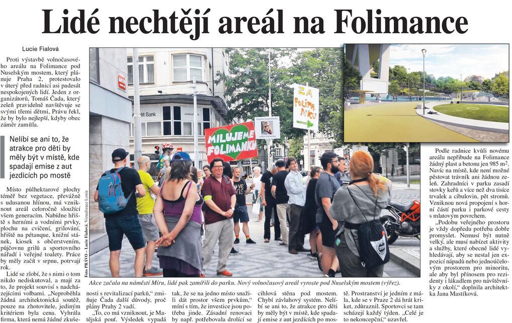 Právo: Lidé nechtějí areál na Folimance